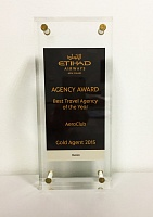 Etihad Airways Best Travel Agency of the Year