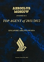 Singapore Airlines Russia Top Agent